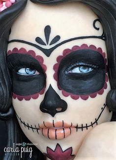 Catrina - Sugar Skull Bakers 2016 by Carla Puig - Halloween - Halloween Makeup Sugar Skull, Sugar Skull Make Up, Skull Makeup, Halloween Makeup Looks, Halloween Skull, Halloween Costumes, Skeleton Costumes, Sugar Skulls, Sugar Skull Halloween Costume