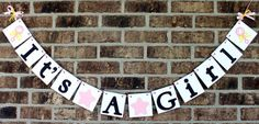 IT'S A GIRL Banner for Baby Shower Photo Prop by BannerSpecialties, $20.00