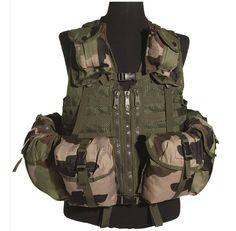 Mil-Tec Weste Tactical, Mod. System, 8-Taschen, CCE / mehr Infos auf: www.Guntia-Militaria-Shop.de