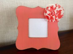Bright and summery rustic picture frame. by BrecksCountryDesigns