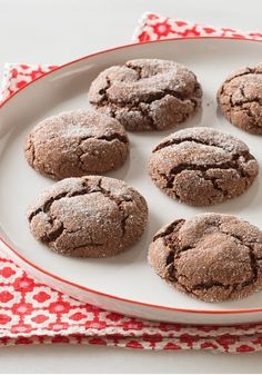 Mocha Crinkles — These Mocha Crinkle cookies are done in less than 30 minutes, and they're easy to make, thanks to instant coffee and devil's food cake mix.