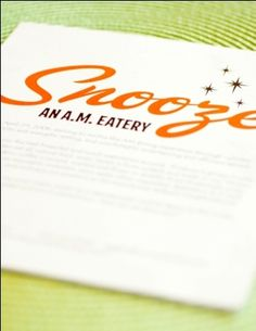 SNOOZE - An AM Eatery: Downtown, Midtown, Denver & South Denver, CO.  The wait is LOOOONG ... but the food is incredible!