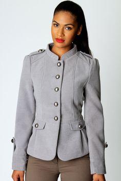 Kim Military Wool Look Coat