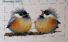 Graficos de aves en punto de cruz