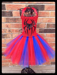Spider-Man tutu dress. Available to a girls 8. Price is from $18-$28 depending on size. Fine it and many more over at Facebook.com/tutusbylisa