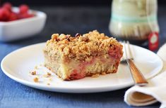 Rhubarb Crumb Cake recipe from Andrew Zimmern...looks just like a cake I used to make a long time ago but have since lost the recipe for.