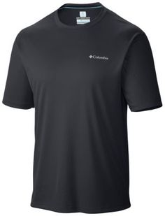 A super-cooling tech tee with stretch and sun protection, this soft and lightweight men's shirt sports our industry-leading cooling technology, which reacts with your sweat to lower the material's temperature and keep you cool during dynamic aerobic activity in the heat.