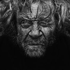 Haunting Black and White Portraits of Homeless People by Lee Jeffries | Bored Panda