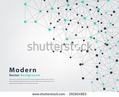 abstract geometric vector background of triangle and circle technology concept - stock vector
