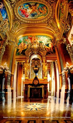 mansions in paris interiors/images | Art2go: Paris Opera House Panorama