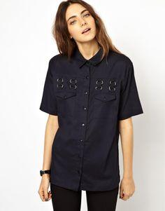ASOS Shirt With Hardware Detail