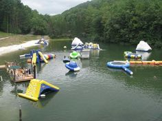 I'm pretty sure this is in West Virginia. Ace Adventure Resort..ACE has grown into a full-service, 1,500-acre resort with more than 50 cabins, a dozen on-property activities such as rock climbing, ATV tours, mountain biking, mud obstacle course and zip line canopy tour, a full-service dining lodge, bar and grill, and 5-acre lake with its own zip line and water slide.
