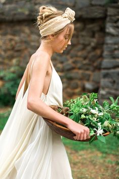 Wedding Inspiration: Sketches of Spring   Gown: Carol Hannah Celestine   Photography: Rustic White   Styling, Furniture, Creative Direction: Blue Eyed Yonder   Floral Artwork, Paper Goods + Custom Installation: Meredith Mejerle Rush   Floral Design: Amy Osaba Events   Hair + Makeup: Claudia Mejerle   Food + Drink: Sunshine in my Belly   Linens: Party Tables   Venue: Greystone at Piedmont Park   Production: No Regrets Events   Cake: Sugar and Slate