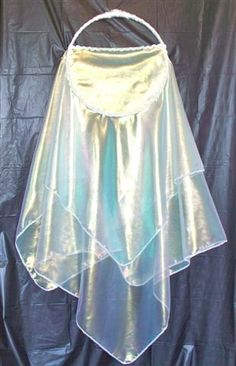 """The Bride of Christ 14"""" Tabret    $40.00      This tabret is made with a 14"""" wooden ring, a 58"""" square piece of fabric, and trimmed with sequins.  Visit our website to see other available colors."""
