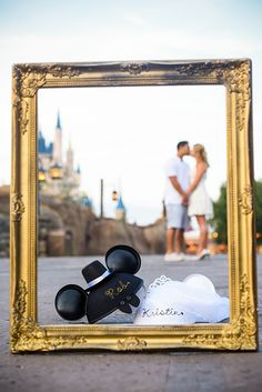 Adorable Walt Disney World engagement session with a touch of character