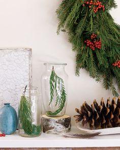 winter walk nature specimens - Simplify Christmas Decorating