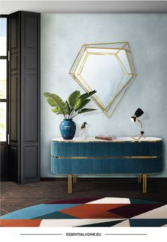 We are here to give you the best interior design inspiration and the best sideboard and buffet ideas for your home decor! Mid-century Interior, Best Interior Design, Interior Design Inspiration, Design Ideas, Design Trends, Design Projects, Design Design, Bathroom Interior, Color Trends
