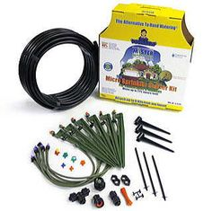Includes 50 feet of poly tubing, 6 stake assemblies, 6 bonus misers, and accessories.