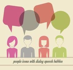 People icons and speech bubbles vector 01 | Others vector