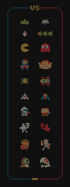 VS. Would love to have this hanging on my wall. Hits my nerdy heart in just the right way!