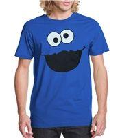 Sesame Street Cookie Monster Face Adult Shirt $13