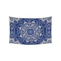Interestprint Indian Tribal Hippie Hippy Buddhist Lotus Flower Blue Mandala Tapestry Wall Hanging Bohemian Boho Henna Medallion Wall Decor Art Cotton Linen for Home Decoration 60 X 40 Inches ** Check out this great product. (This is an affiliate link and I receive a commission for the sales)
