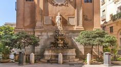 Der Saturn-Brunnen in Trapani