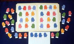Alphabet Mitten Match Laminated File Folder Game. $5.00, via Etsy.