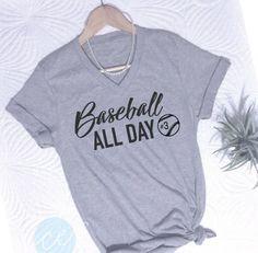 Baseball shirt baseball all day girlfriend by CEdesignsByAshley Football Mom Shirts, Baseball Tee Shirts, Baseball Mom, Baseball Tickets, Baseball Season, Baseball Outfits, Football Girlfriend, Baseball Crafts, Baseball Uniforms