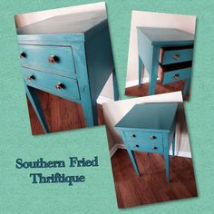 Side table in Aqua emerald