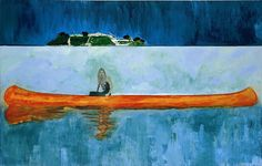Peter Doig. 100 Years Ago, 2001. Oil on canvas, 240 x 360 cm. Centre Pompidou, Paris.