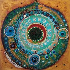 il a l& - L& vert - - Canan Berber - Simple Art Mandala Art, Art And Illustration, Psychedelic Art, Art Arabe, Kunst Der Aborigines, Pomegranate Art, Art Fantaisiste, Turkish Art, Arabic Art