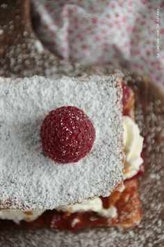 Millefeuilles framboises & chantilly mascarpone
