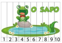 Number Puzzles, Math Numbers, Craft Stick Crafts, Preschool Crafts, Number Sequence, Frog Crafts, Picture Boards, Letter K, Montessori