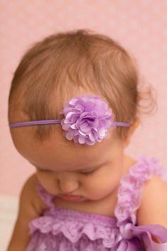 Baby Headband Light purple mini flower headband baby bow newborn headband on Etsy, $5.50