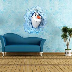 3d zeď nálepka vzor kreslený dítě DIY lednice dveře na stěnu nálepka plakát tapety Frozen Olaf dekorace velkoobchod-33