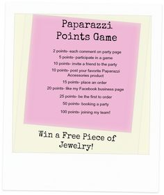 Paparazzi Facebook party games on Pinterest | Getting To