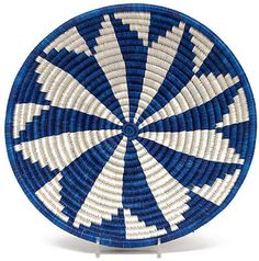 All Across Africa 10  Lake Ingagi Decorative Bowl - Blue/Silver