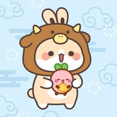 Molang, Cute Kawaii Drawings, Couple Wallpaper, Cute Chibi, Cute Images, Cute Gif, Cute Bunny, Emoticon, Cute Stickers