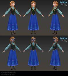 Elsa - Low poly model for Frozen Free Fall by Shaka-zl on DeviantArt Maya Character Modeling, Game Character, Ana Frozen, Disney Frozen, Disney Style, Disney Art, Frozen Free Fall, Meaningful Drawings, Brittney Lee