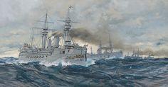 Carl Saltzmann - Kriegsschiffe auf hoher See