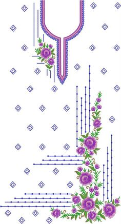 Latest Dress Designs / Heavy top Duppata / Punjabi Suit / Salwar Suit / Pakistani Dresses Download Embroidery Design File in .EMB Format. Embroidery On Kurtis, Embroidery Neck Designs, Embroidery Suits Design, Couture Embroidery, Machine Embroidery Patterns, Embroidery Fashion, Embroidery Art, Bullion Embroidery, Baby Applique