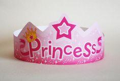 Princess Paper Crown - Printable via Etsy
