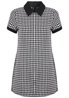 ebc7f66f Black Lapel Short Sleeve Houndstooth Dress (for my inner Rude Girl!)  Skinhead Fashion