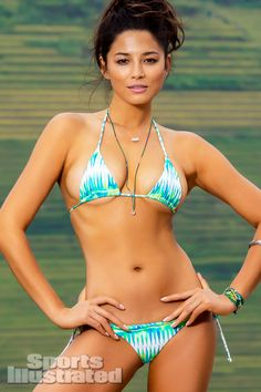 Jessica Gomes was photographed by Derek Kettela in  Guilin,Guangxi Province,China. Swimsuit by MIKOH SWIMWEAR.