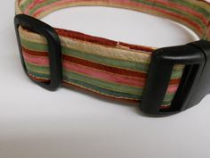 Dog Collar  Multicolored Stripes by FourPawsJewelry on Etsy, $15.00