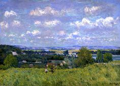 bofransson:  Valley of the Seine at Saint-Cloud Alfred Sisley - 1875