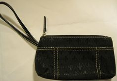 Women Fabric Cosmetic bag, Fabric Lining, Black.