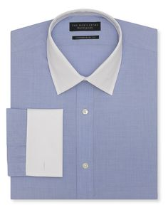 The Men s Store at Bloomingdale s End-on-End White-Collar Dress Shirt -  Regular Fit Men - Dress Shirts - Bloomingdale s e461c2a1a99f
