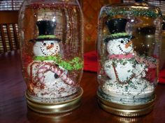Homemade Snow Globes...great kids crafts!